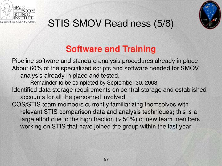 STIS SMOV Readiness (5/6)