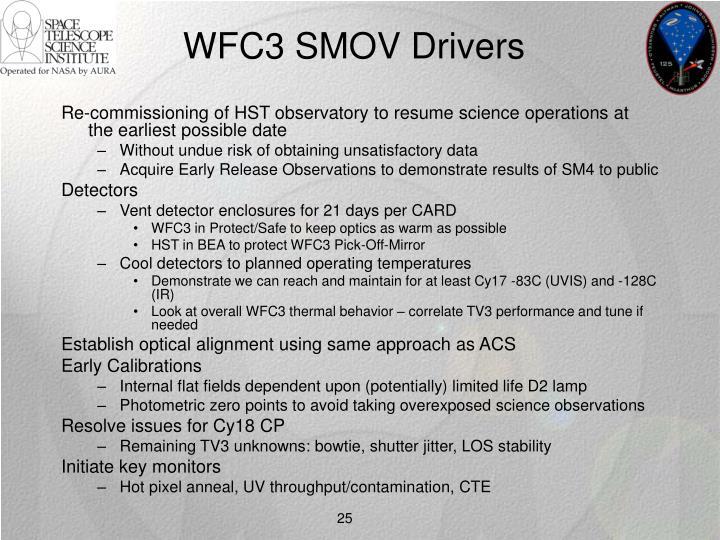 WFC3 SMOV Drivers
