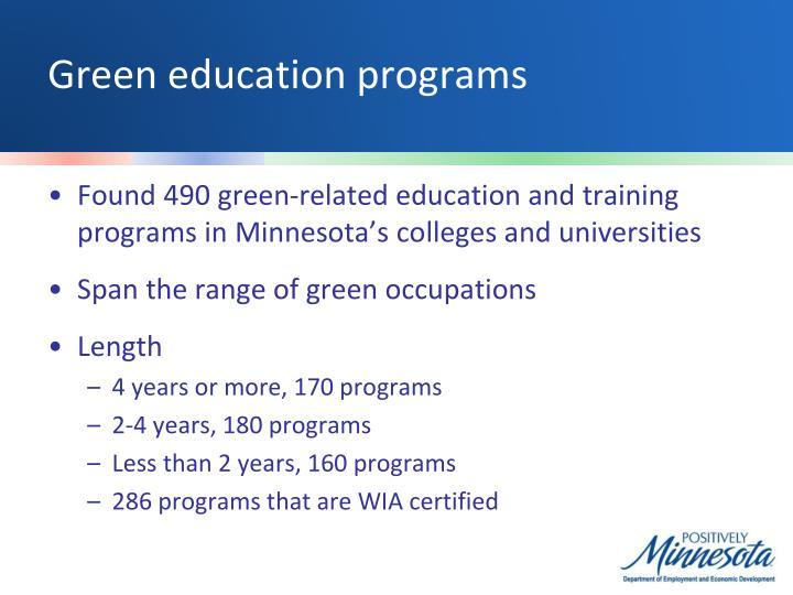 Green education programs