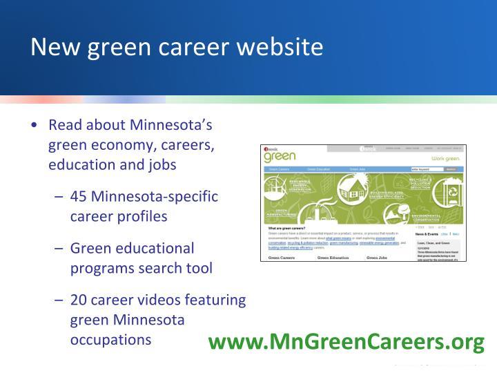 New green career website