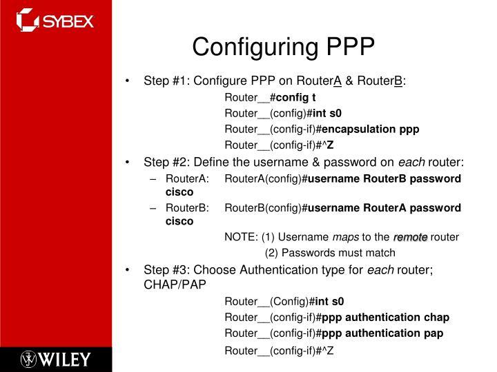 Configuring PPP