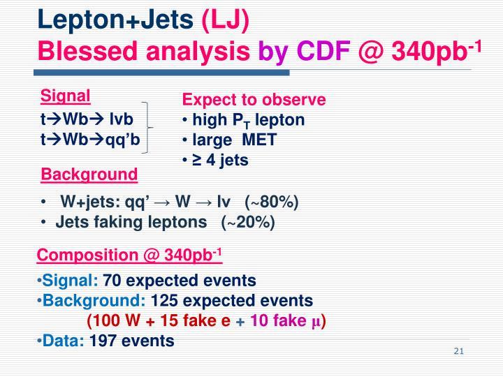 Lepton+Jets