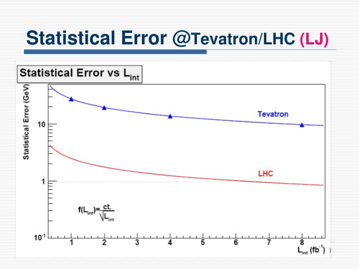 Statistical Error @