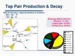 top pair production decay
