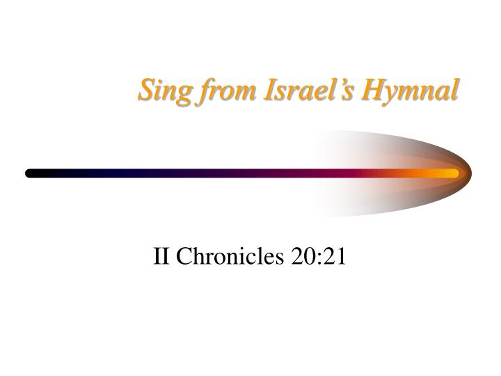 Sing from Israel's