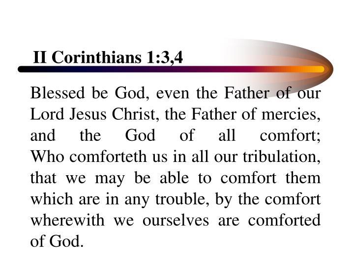II Corinthians 1:3,4