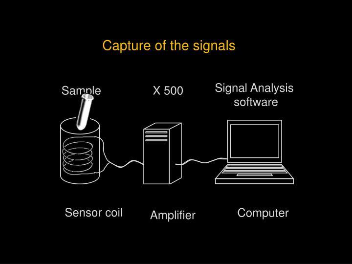 Capture of the signals