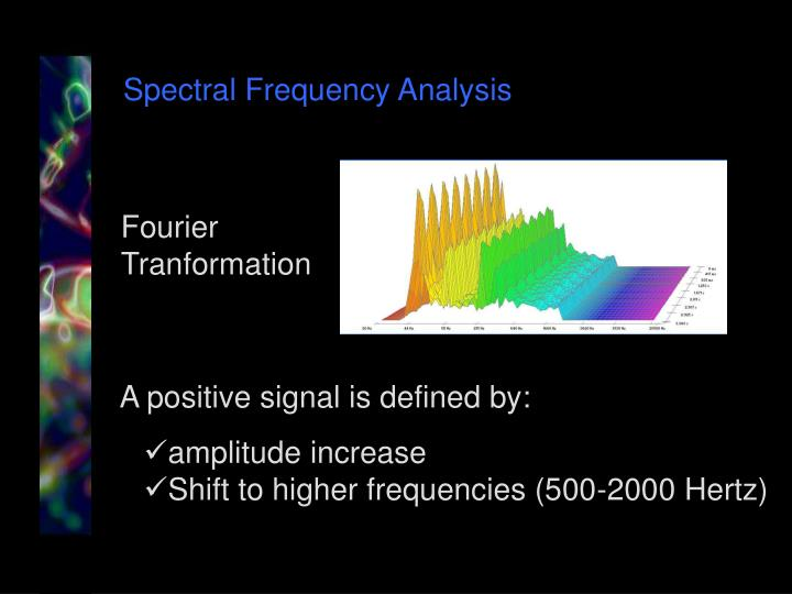 Spectral Frequency Analysis