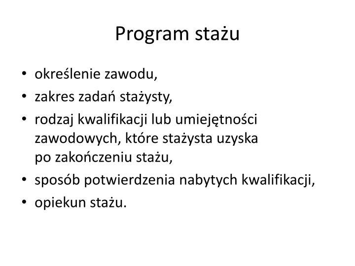 Program stażu