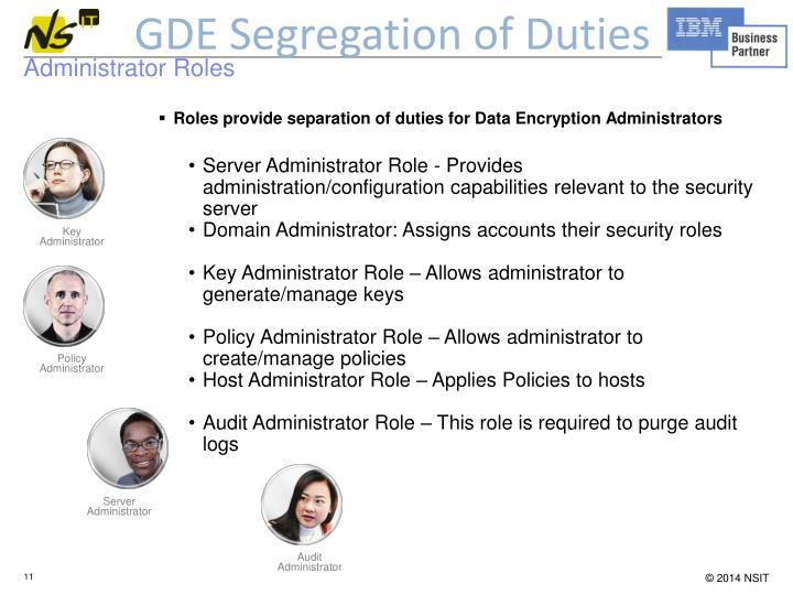 GDE Segregation of Duties