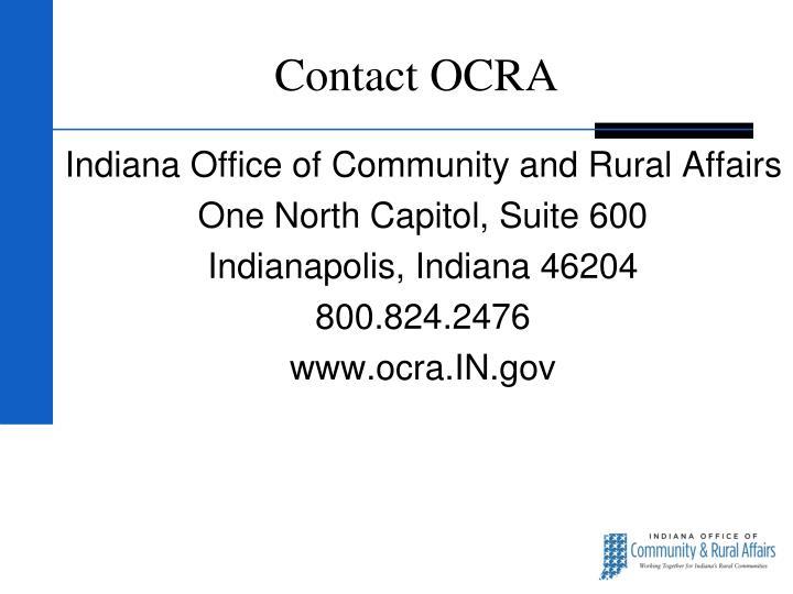 Contact OCRA