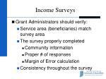 income surveys