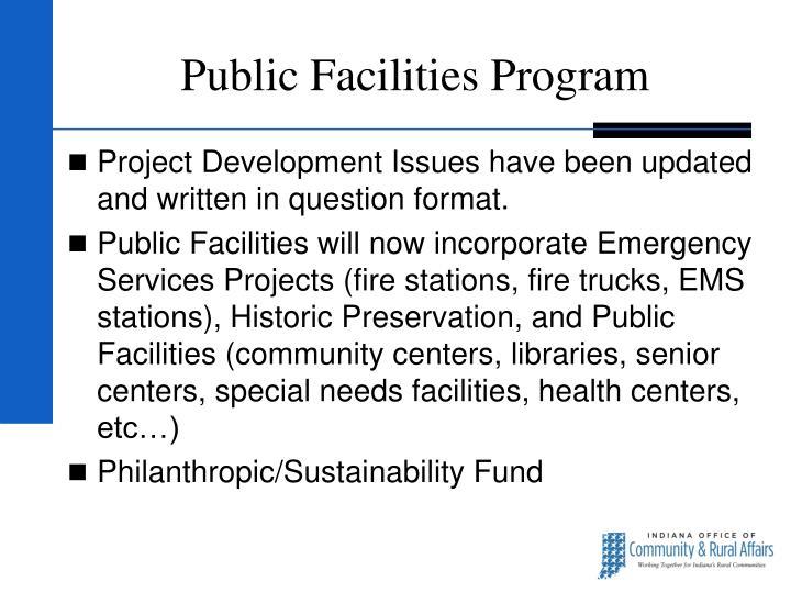 Public Facilities Program