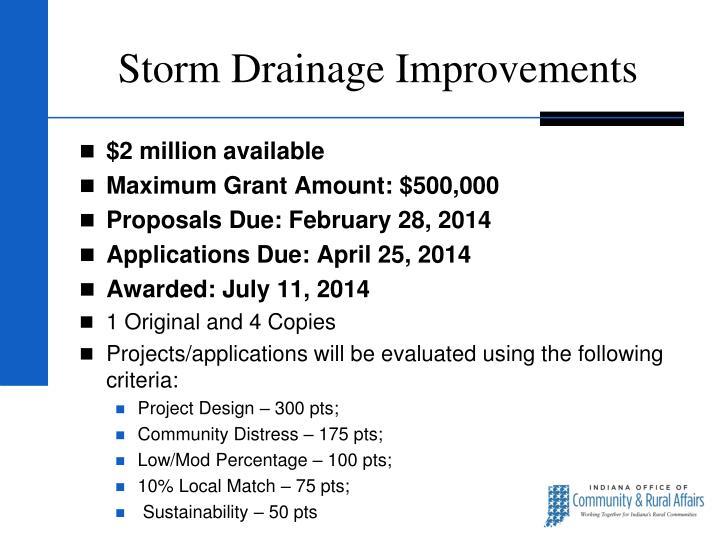 Storm Drainage Improvements