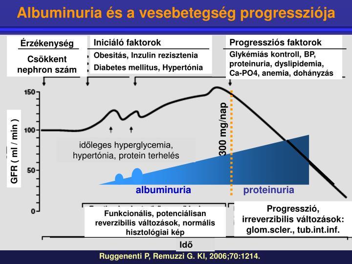 Albuminuria és a vesebetegség progressziója