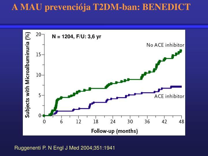 A MAU prevenciója T2DM-ban: BENEDICT