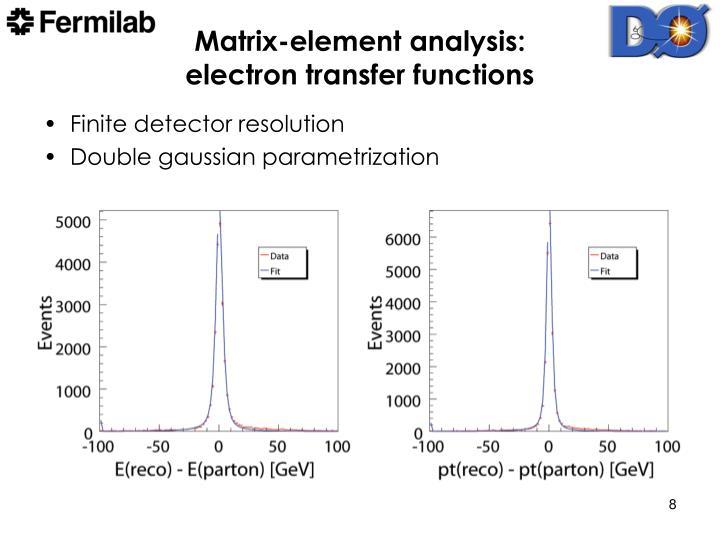 Matrix-element analysis: