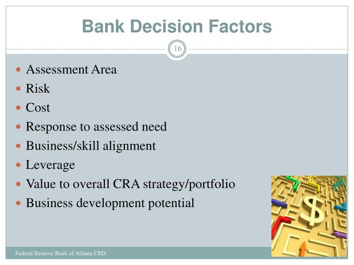 Bank Decision Factors