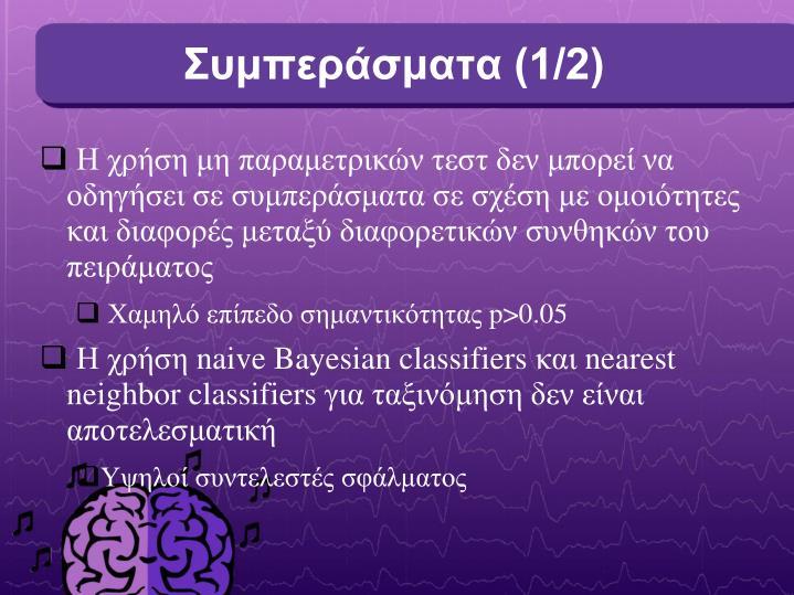 Συμπεράσματα (1/2)