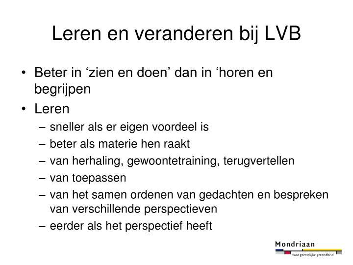 Leren en veranderen bij LVB