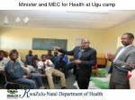 minister and mec for health at ugu camp