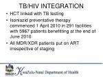 tb hiv integration
