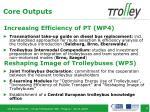 increasing efficiency of pt wp4