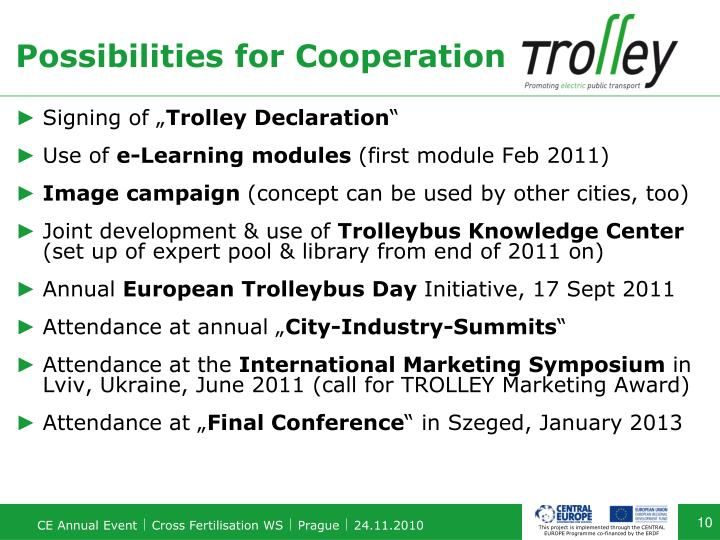 Possibilities for Cooperation
