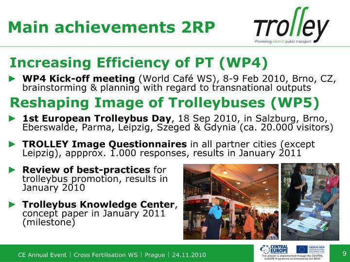 Main achievements 2RP