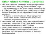other related activities initiatives