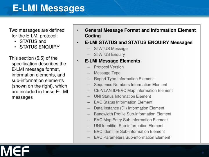 E-LMI Messages