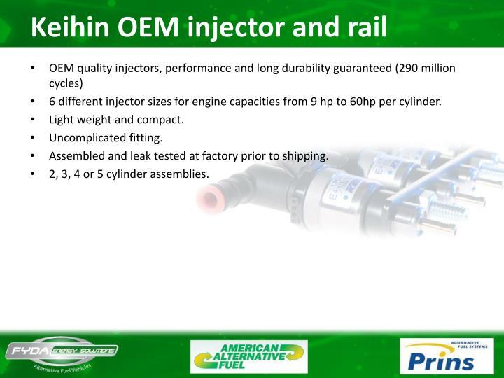 Keihin OEM injector and rail
