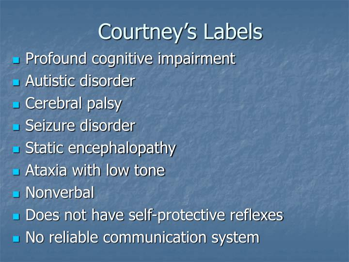 Courtney's Labels