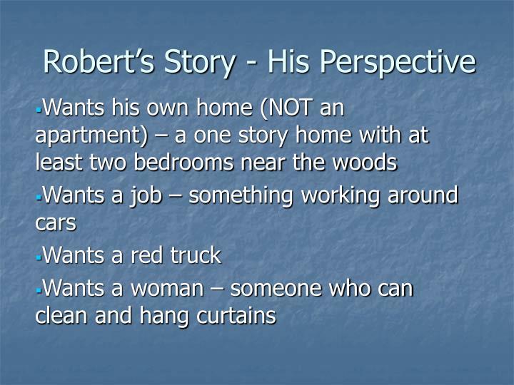 Robert's Story - His Perspective