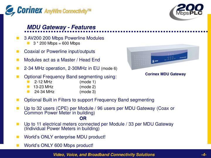 Corinex MDU Gateway