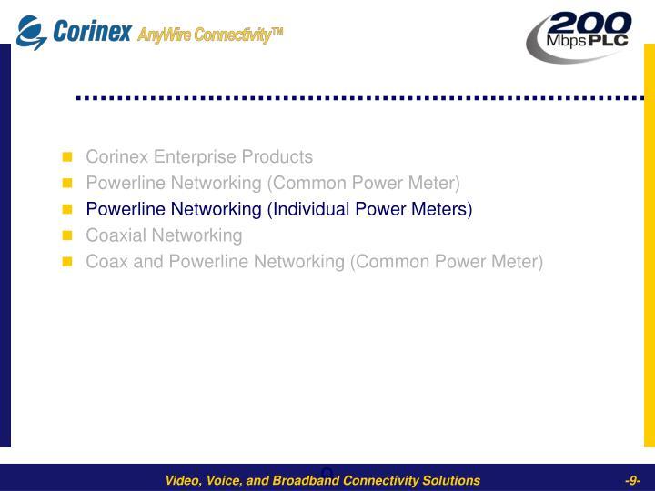 Corinex Enterprise Products