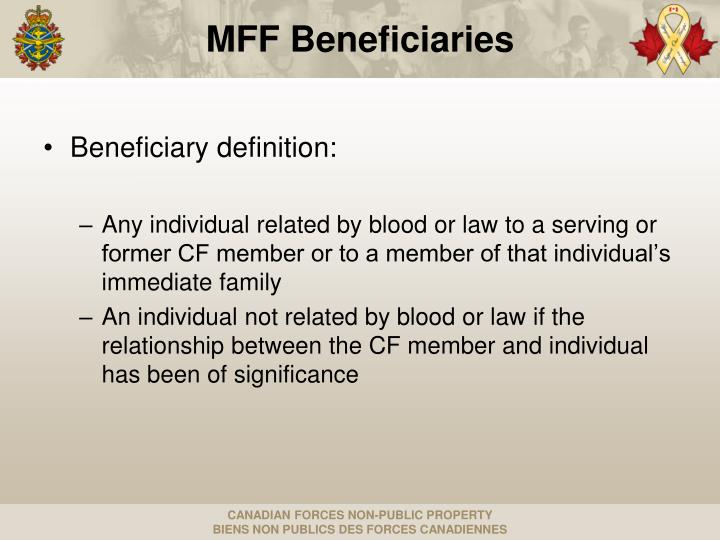 Beneficiary definition: