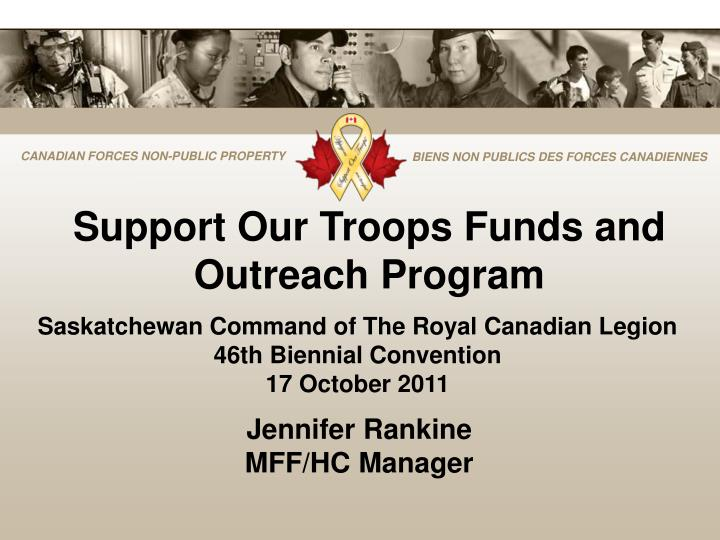 Support Our Troops Funds and Outreach Program