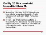 erd ly 2020 a rom niai konzult ci ban ii
