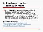 kezdem nyez s innovat v uni