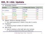 tth h bb update1