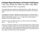 a global representation of protein fold space hou sims zhang kim pnas 100 2386 2390 2003