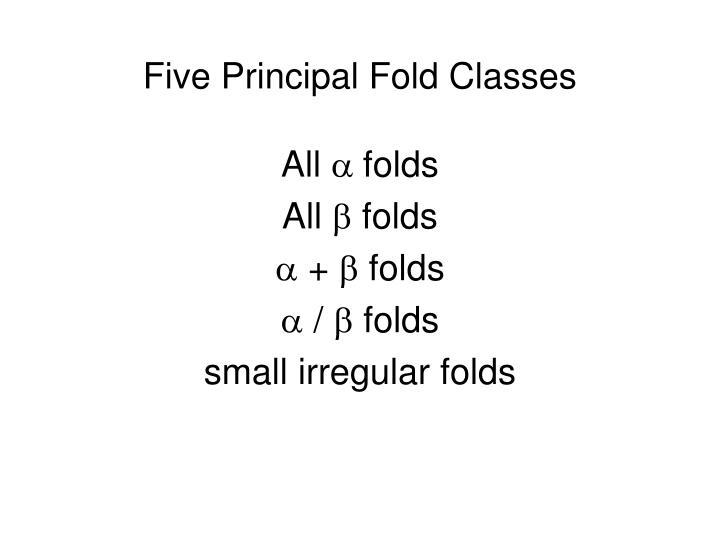 Five Principal Fold Classes
