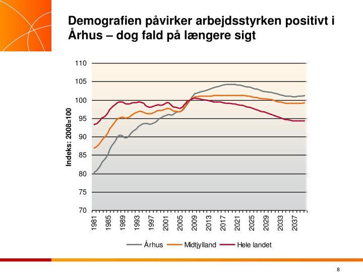 Demografien påvirker arbejdsstyrken positivt i Århus – dog fald på længere sigt