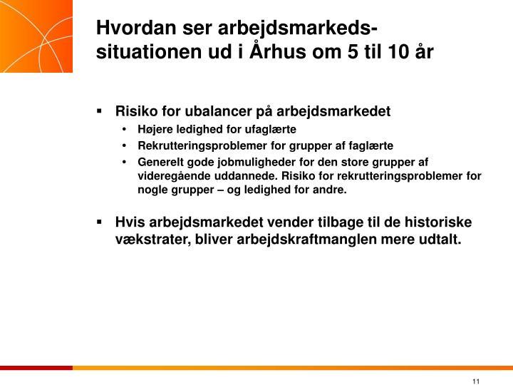 Hvordan ser arbejdsmarkeds-situationen ud i Århus om 5 til 10 år