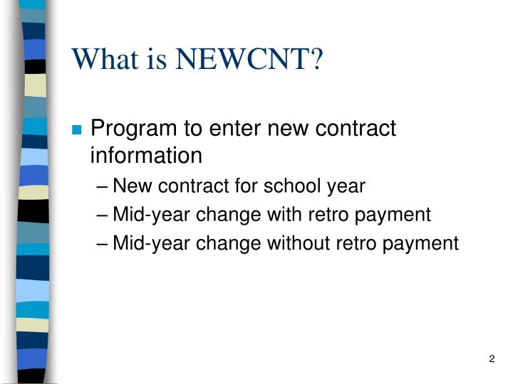 What is NEWCNT?