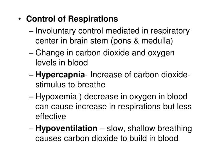 Control of Respirations