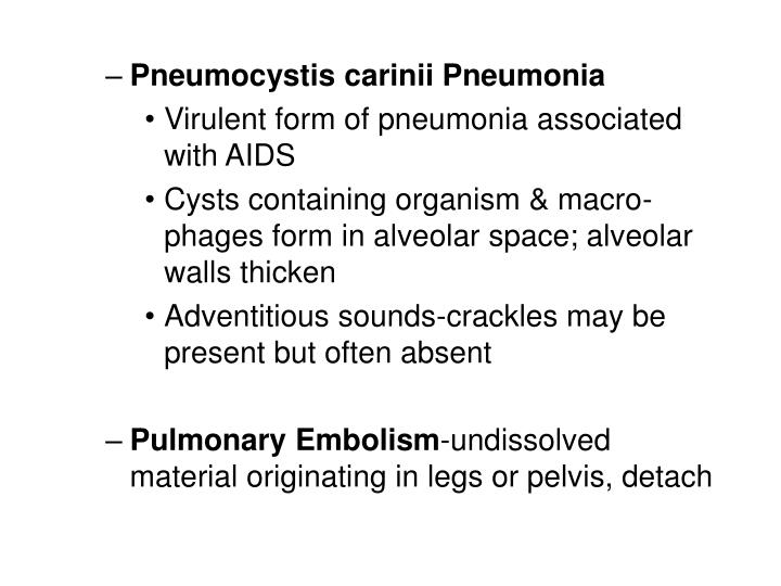 Pneumocystis carinii Pneumonia