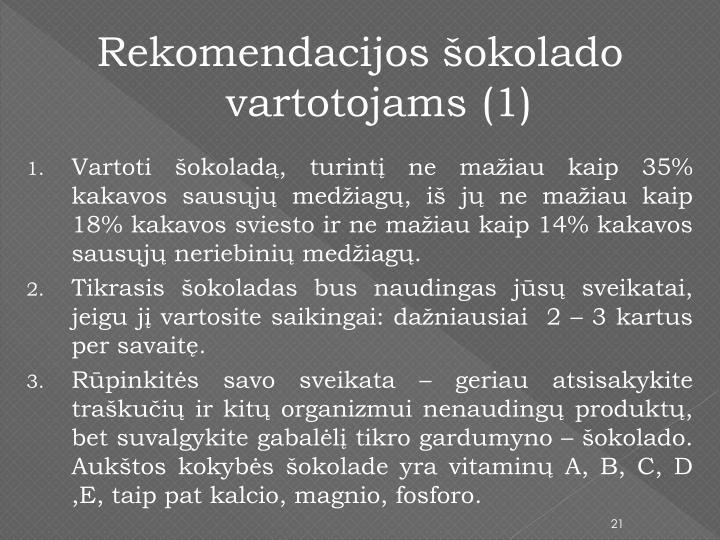 Rekomendacijos