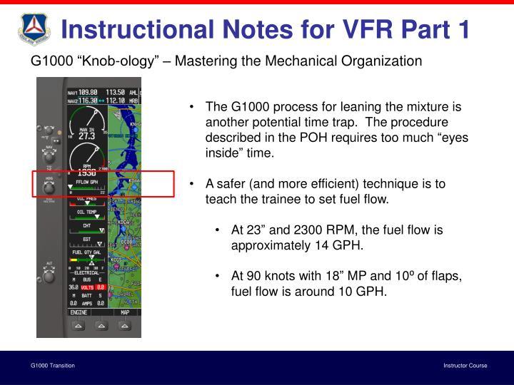 Instructional Notes for VFR Part 1